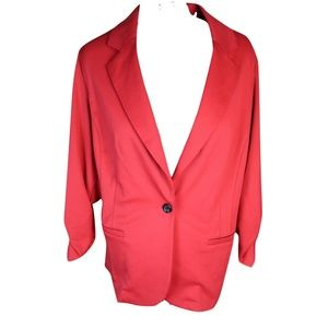 Plus size Fitted Red Ponte Blazer Plus size 2X